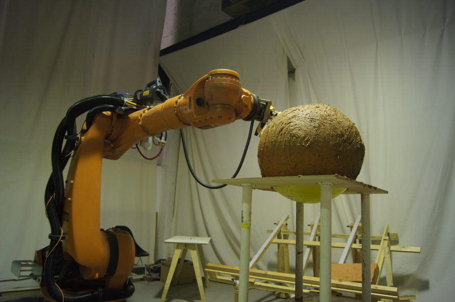 Robotic Soft Natural Material Spraying