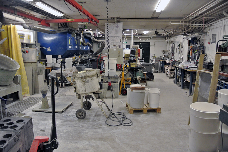 Research environment_concrete mixing lab