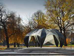 ICD/ITKE Research Pavilion 2012 inspired by the fibrous morphology of a lobster claw. ©ICD/ITKE