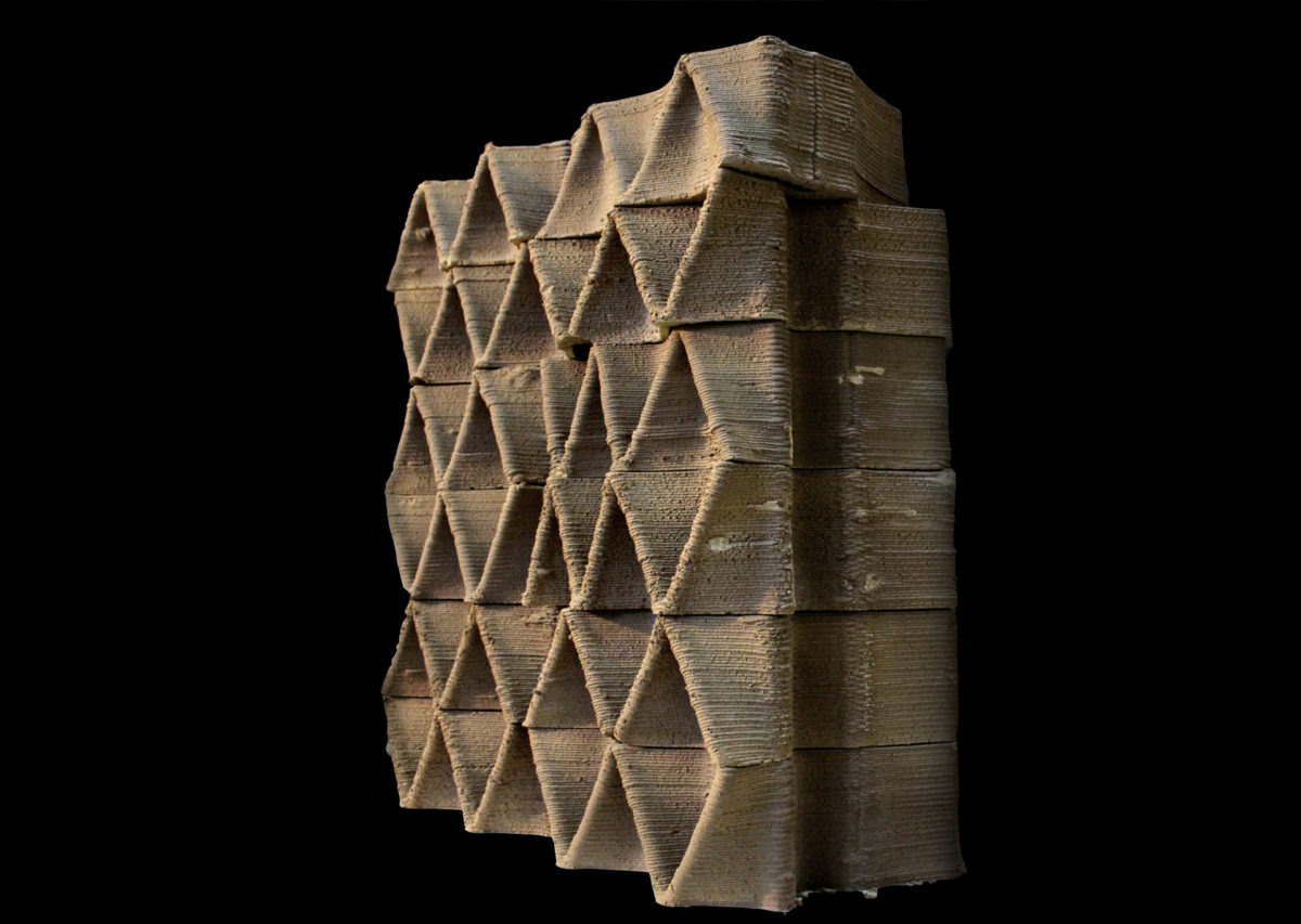 Open Thesis Fabrication – CFD Study of a Large Scale 3D Printed Clay Wall